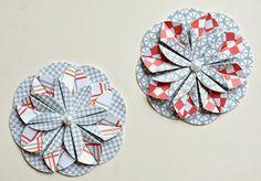 Papero amo: DIY skládaná kytka