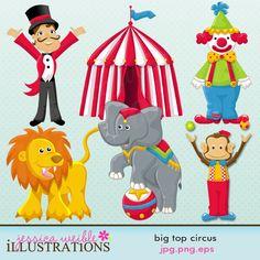 Big Top Circus | Illustrations & Cliparts - Big Top Circus - MYGRAFICO - DIGITAL ARTS ... Carnival Classroom, Classroom Themes, Baby Boy Or Girl, New Baby Boys, Circus Theme, Circus Room, Circus Characters, Circus Illustration, Big Top Circus