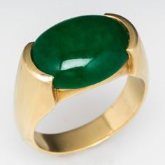 Vintage Mens Green Agate Ring Jade Jewelry, Jewelry Rings, Silver Jewelry, Jewellery, Green Agate, Green Onyx, Jade Ring, Gold Plated Rings, Schmuck Design