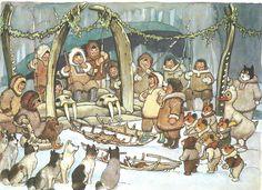 Praatplaat eskimo 's