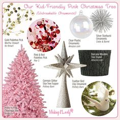 do a separate, in-room Christmas tree for girls or boys, modeled after some of the stuff seen here