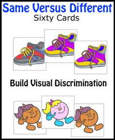 same versus different - visual discrimination Pediatric Occupational Therapy, Pediatric Ot, Autism Activities, Speech Therapy Activities, Speech Language Pathology, Speech And Language, Teaching Kindergarten, Preschool Class, Teaching Ideas