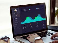 "via Muzli. ""Fitness/Health App—Design Inspiration"" is published by Muzli in Muzli - Design Inspiration. Web Dashboard, Dashboard Design, Ui Web, Ui Design, Graphic Design, Health And Fitness Apps, Health App, Visualisation, Data Visualization"