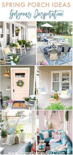 Spring Porch Ideas! #springporch #porchdecorating #porchdecor #springdecor #porch #patio Hanging Swing Chair, Swinging Chair, City Farmhouse, Outdoor Dining, Outdoor Decor, Porch Furniture, Shade Plants, Porch Ideas, Porch Swing
