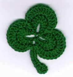 crochet shamrock coaster pattern | for St. Paddy's and we have one lucky crochet shamrock coaster ...