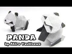 How to make an origami panda designed by Akira Yoshizawa, tutorial by Yakomoga Origami