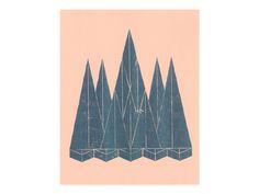 Landscape (3) - Risograph  by Harry Diaz