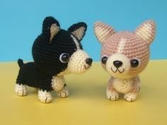 Etsy の Welsh Corgi Puppy PDF Crochet Pattern by jaravee