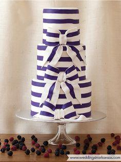 Purple & white striped cake