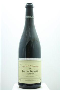 Vincent Girardin (Maison) Corton Renardes Vieilles Vignes 2005. France, Burgundy, Aloxe Corton, Grand Cru. 3 Bottles á 0,75l. Estimate (11/2016): 160 USD (53,33 USD (1.299 CZK) / Bottle).