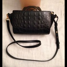 Alexander Wang Leather 'Pelican Sling' Adorable Alexander Wang 'Pelican Sling' Hornback Embossed Clutch.  Can be worn with long strap as pictured.  Comes with dust bag and card. Alexander Wang Bags