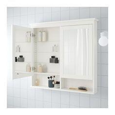 HEMNES Spiegelkast met 2 deuren, wit 103x16x98 cm wit
