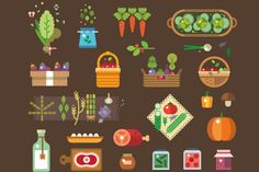 Fresh vegetables from the garden by TastyVector on Creative Market