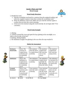 Worksheets Sarah Plain And Tall Worksheets worksheets activities and projects on pinterest sarah plain tall spelling words study activity list