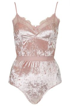 Body en velours - TOPSHOP