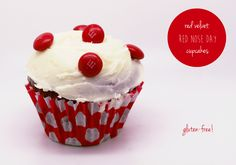 Gluten-Free Red Velvet Red Nose Day Cupcakes! ~ Brioche for Belsy