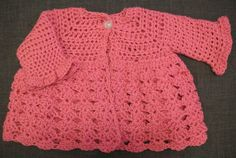 Hey, I found this really awesome Etsy listing at https://www.etsy.com/listing/183956314/crocheted-baby-girl-sweater