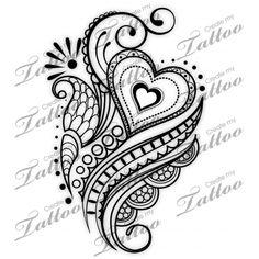 Marketplace Tattoo SBink Mehndi Heart #20934 | CreateMyTattoo.com