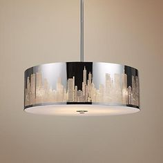 "Skyline 5-Light 24"" Wide Stainless Steel Pendant Light"
