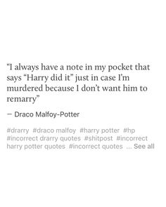 Drarry -I don't ship it but it's hilarious