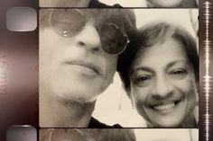 "@iamsrk   With my fathers favourite actress....""The Ber (berries) Liyo, Meva Gareebon Ka Babe"" song...Tanujaji...Tanu aunty. 25 AUG 2015"