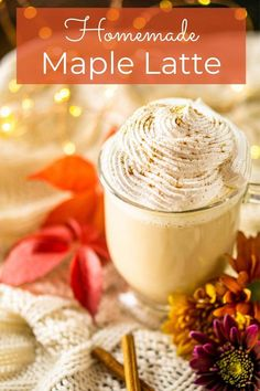 Make this homemade maple latte without any fancy equipment or coffee makers! You'll love the fall flavor in this easy homemade latte and skipping the lines and prices at the coffee shop. It's truly the best fall latte recipe!