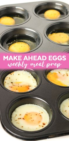 This oven baked eggs recipe is an easy fix for rushed morning breakfasts! These Eggs are baked in muffin pans and are ready in just 15 minutes.
