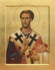 Byzantine Icons, Byzantine Art, John Chrysostom, Religious Paintings, Best Icons, Religious Icons, Orthodox Icons, Sacred Art, Christian Art