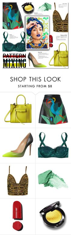 """""""Head-to-Toe Pattern Mixing"""" by milica1940 ❤ liked on Polyvore featuring Rebecca Minkoff, P.A.R.O.S.H., Dolce&Gabbana, Versace, jane and Chanel"""