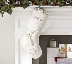 Snowman Glitter Stocking #pbkids