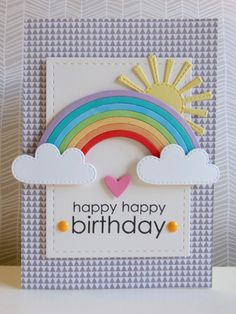 Birthday rainbow - 2015-01-05 - koolkittymusings.typepad.com - using @lawnfawn stitched dies and @mftstamps rainbow die.