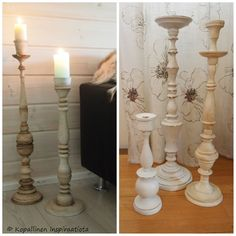 Annie Sloan, Chalk Paint, Candle Holders, Candles, Vintage, Home, Candlesticks, House, Homes