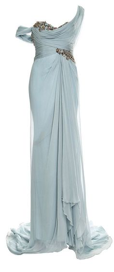Marchesa Grecian Gown- one of the beautiful gorgeous gowns I would love to wear to a formal occasion :) More