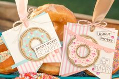 Sweet, yummy and delicious Donut tags. Zero Calorie Donut made with all Fun Stampers Journey product.
