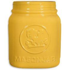 Home Essentials and Beyond Mason Utensil Crock; Yellow