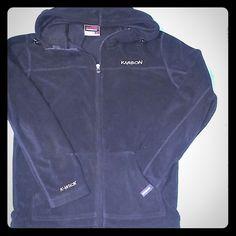 Karbon full-zip fleece hoodie Performance hoodie.  Junior' Large. EUC.  Warm and comfy. Karbon Sweaters