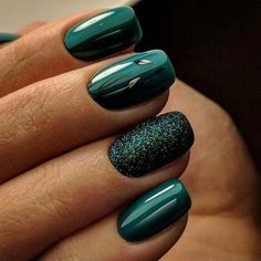 A manicure is a cosmetic elegance therapy for the finger nails and hands. A manicure could deal with just the hands, just the nails, or Dark Green Nails, Green Nail Art, Dark Nails, Matte Nails, Acrylic Nails Green, Dark Color Nails, Green Nail Designs, Acrylic Nail Designs, Nail Art Designs