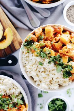 Red Curry Squash Chicken Bowl