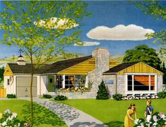 1950s illustration from the National Plan Service courtesy Indiana Coal & Lumber company