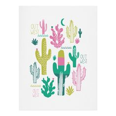 Zoe Wodarz Cactus Out West Art Print | DENY Designs Home Accessories