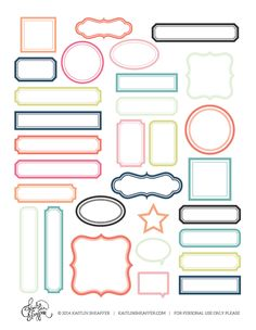 free print and cut printable with frames several color to chose from printable labels