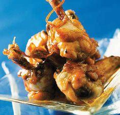 Bocaditos de alitas de pollo caramelizadas #cuisine #recipes