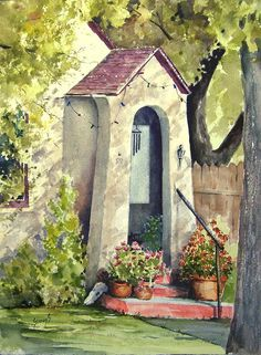 Stephanie's Porch Painting by Sam Sidders - Stephanie's Porch Fine Art Prints and Posters for Sale