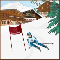 Skieur Courchevel