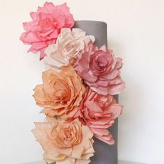 Coffee filter flowers ~ a super cheap, pretty and fun DIY decor idea! Top 10 tutorials, tips + ideas (photo via Half Baked)