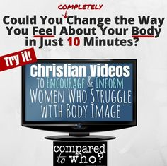 Wow! This is not the same old stuff you hear in church about body image. A FRESH and HONEST take on why women struggle with their appearance from a Christ-centered perspective. Totally encouraging  a must watch from Compared to Who!