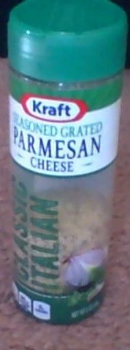 Kraft Parmesan Cheese I would recommend this for sure.I got this for free to do a review on it. yummy.