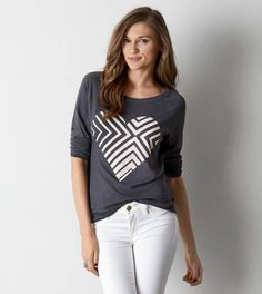 Lead AEO Long Sleeve Graphic T-Shirt - American Eagle  $19.99 (as of 1/27/15)