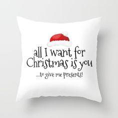 Throw Pillow made from 100% spun polyester poplin fabric, a stylish statement… #santa