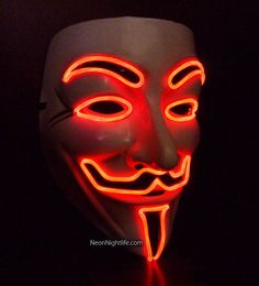 Horror New Skull mask halloween costume Funny EL wire Vendetta Fashion V Cosplay Costume Guy Fawkes Anonymous party masks Vendetta Mask, Guy Fawkes Mask, Anonymous Mask, Graffiti, Mask Dance, Rave Mask, Rave Costumes, Bonfire Night, Halloween Wallpaper